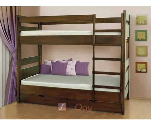 Кровать Селена 2-х ярусная(дерево) без ящиков