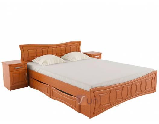 фото Двухспальная кровать Созвездие с ящиками Летро