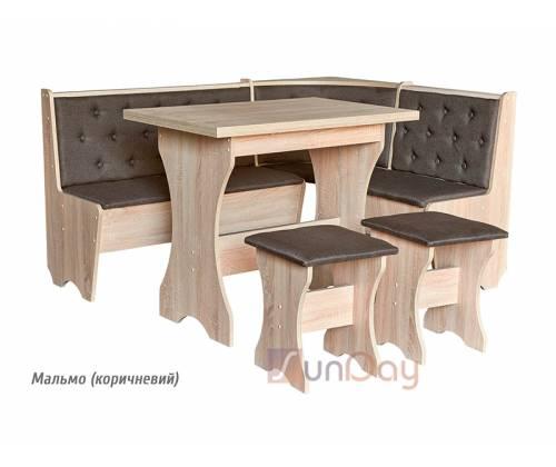Уголок кухонный ДСП (уголок+стол+табурет 2шт)  Мебель Сервис