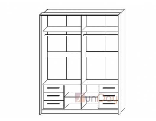 фото 2 Блок ящиков к шкафу-купе 180 спальни Милана