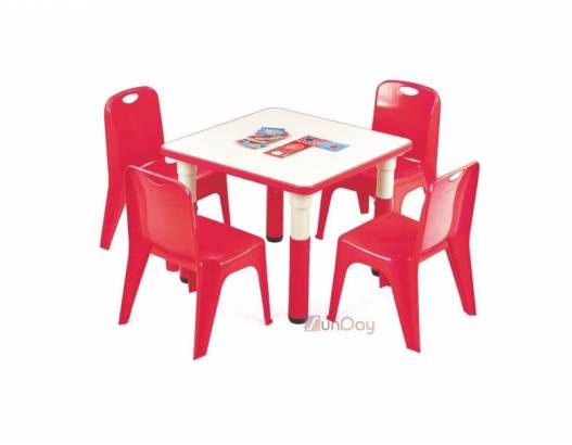 фото Стол детский SIMBA KWADRAT / Красный