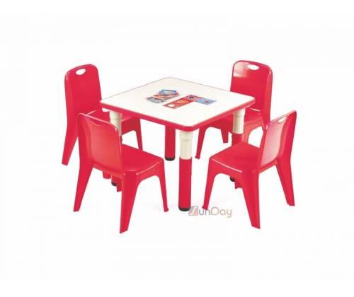 Стол детский SIMBA KWADRAT / Красный