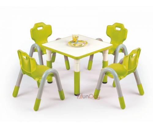 Стол детский SIMBA KWADRAT / Зеленый