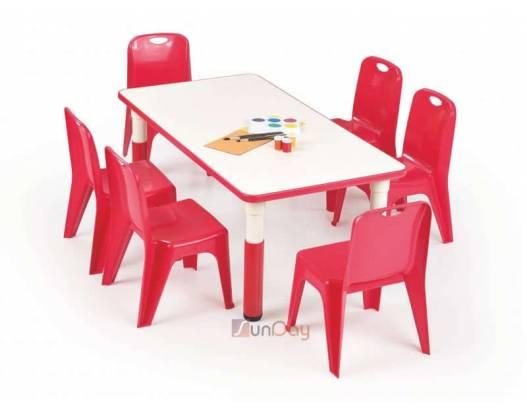 фото Стол детский SIMBA PROSTOKAT / Красный