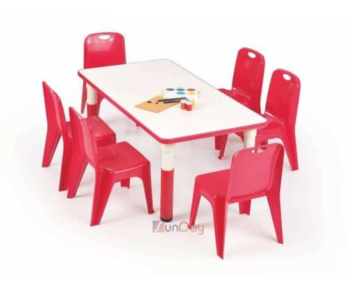 Стол детский SIMBA PROSTOKAT / Красный