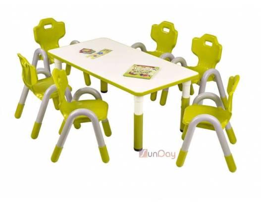 фото Стол детский SIMBA PROSTOKAT / Зеленый