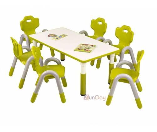 Стол детский SIMBA PROSTOKAT / Зеленый